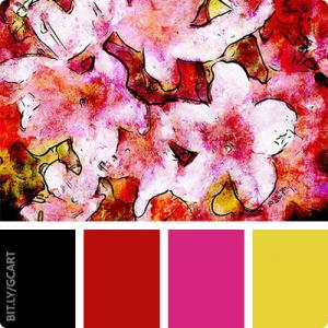 Artwork Color Palette - Pink Flowers 2