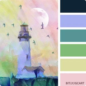 Artwork Color Palette - Yaquina Lighthouse